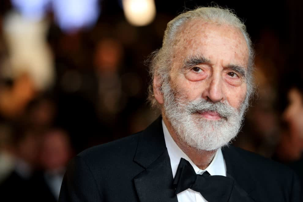 Christopher Lee on the red carpet