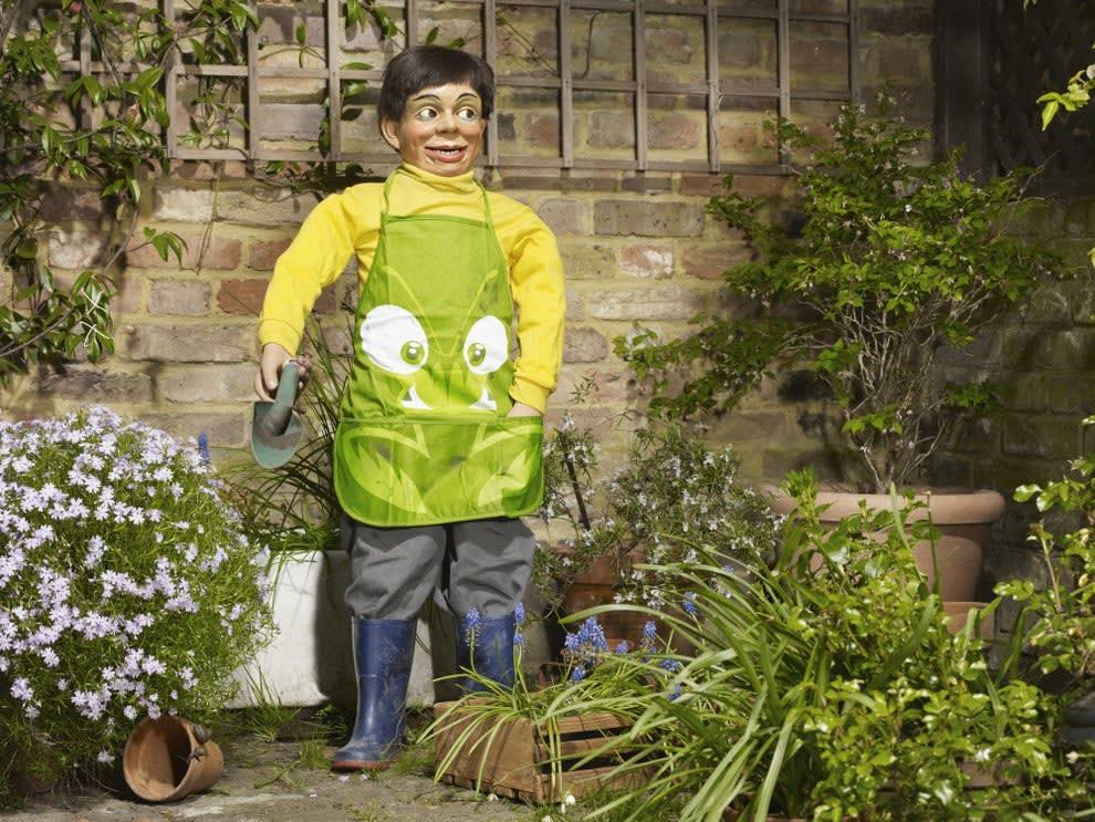 a puppet in a garden