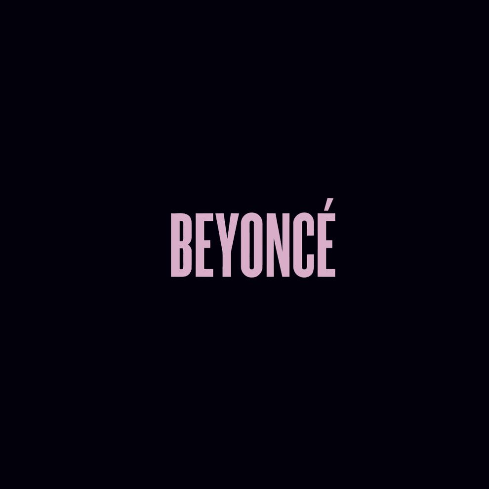 """Em um fundo preto está escrito a palavra """"Beyoncé"""" em uma fonte rosa."""