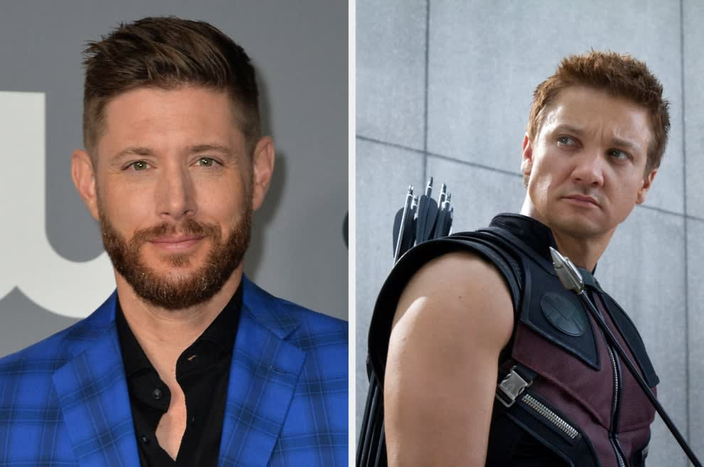Jensen Ackles and Jeremy Renner as Hawkeye