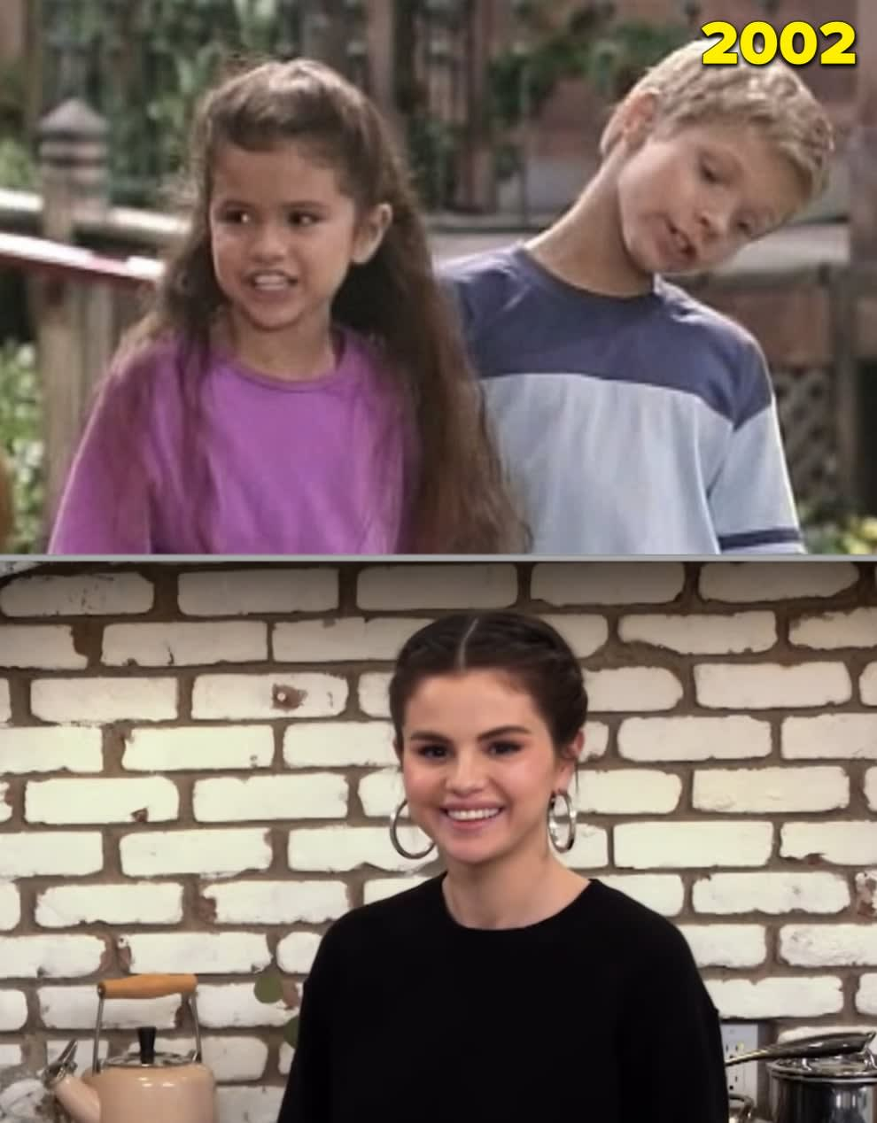 """Selena Gomez no """"Barney"""" quando criança e no seu próprio programa de culinária em 2021"""