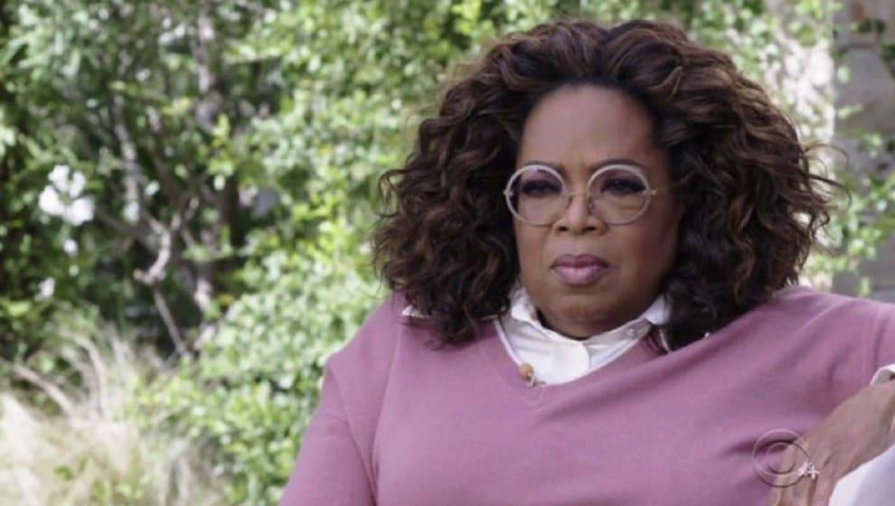 Oprah looking serious