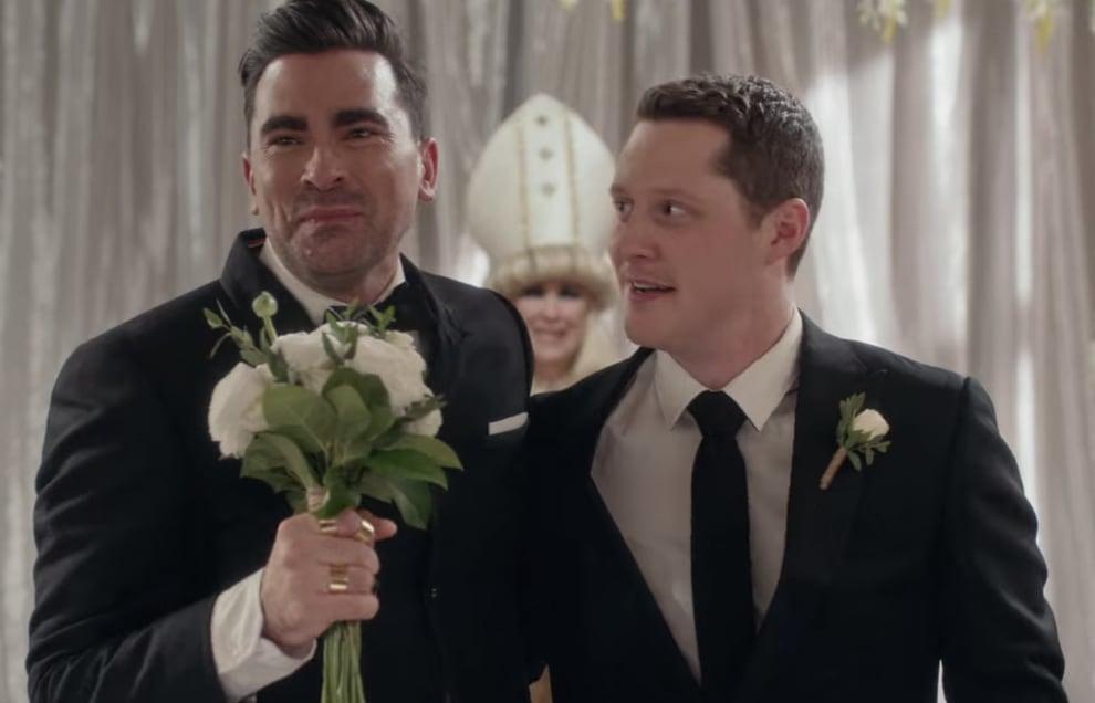 David and Patrick are at their wedding