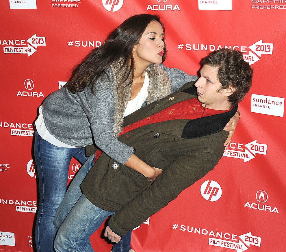 michael cera trying to avoid a kiss