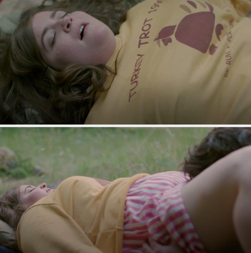 "Aidy Bryant andLuka Jones in a sex scene in ""Shrill"""