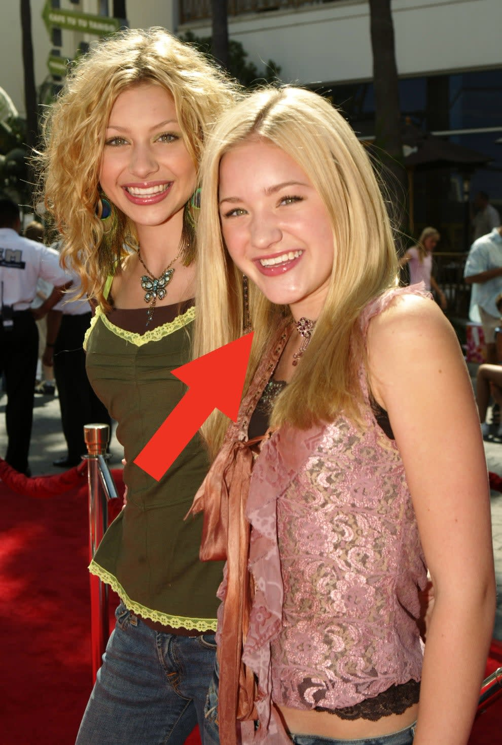 Michalka with sister Aly in 2004