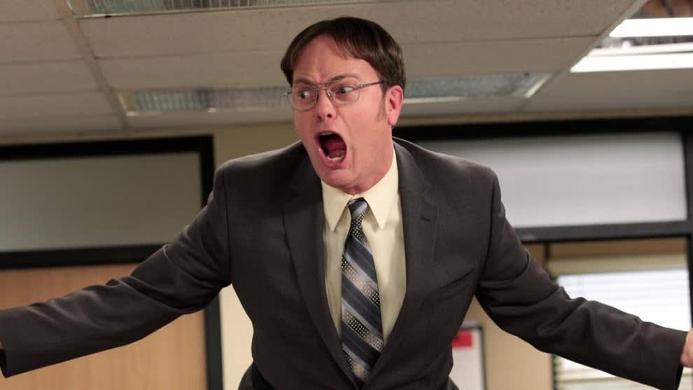 "Imagem do Dwight, de ""The Office""."