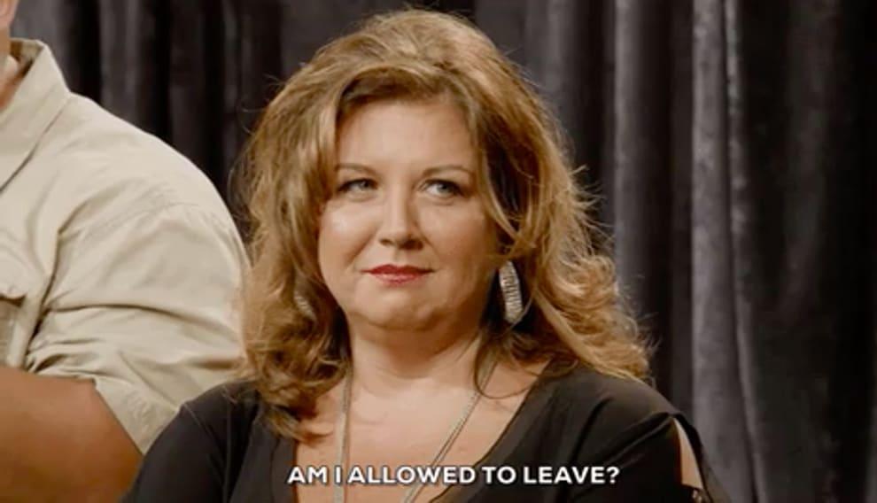 """Abby Lee Miller perguntando """"Posso ir embora?"""""""