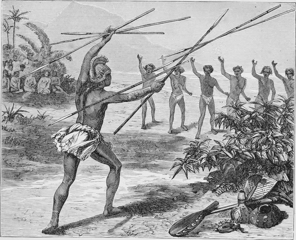 Hawaiian King Kamehameha at battle