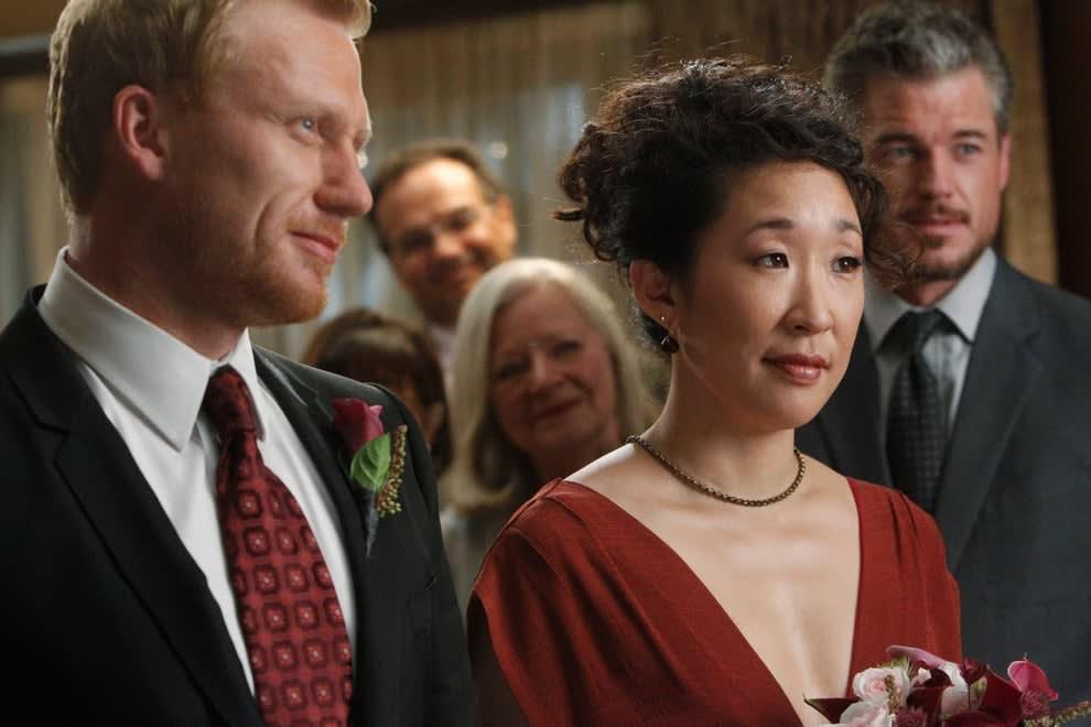 "Cristina and Owen's wedding in ""Grey's Anatomy"""