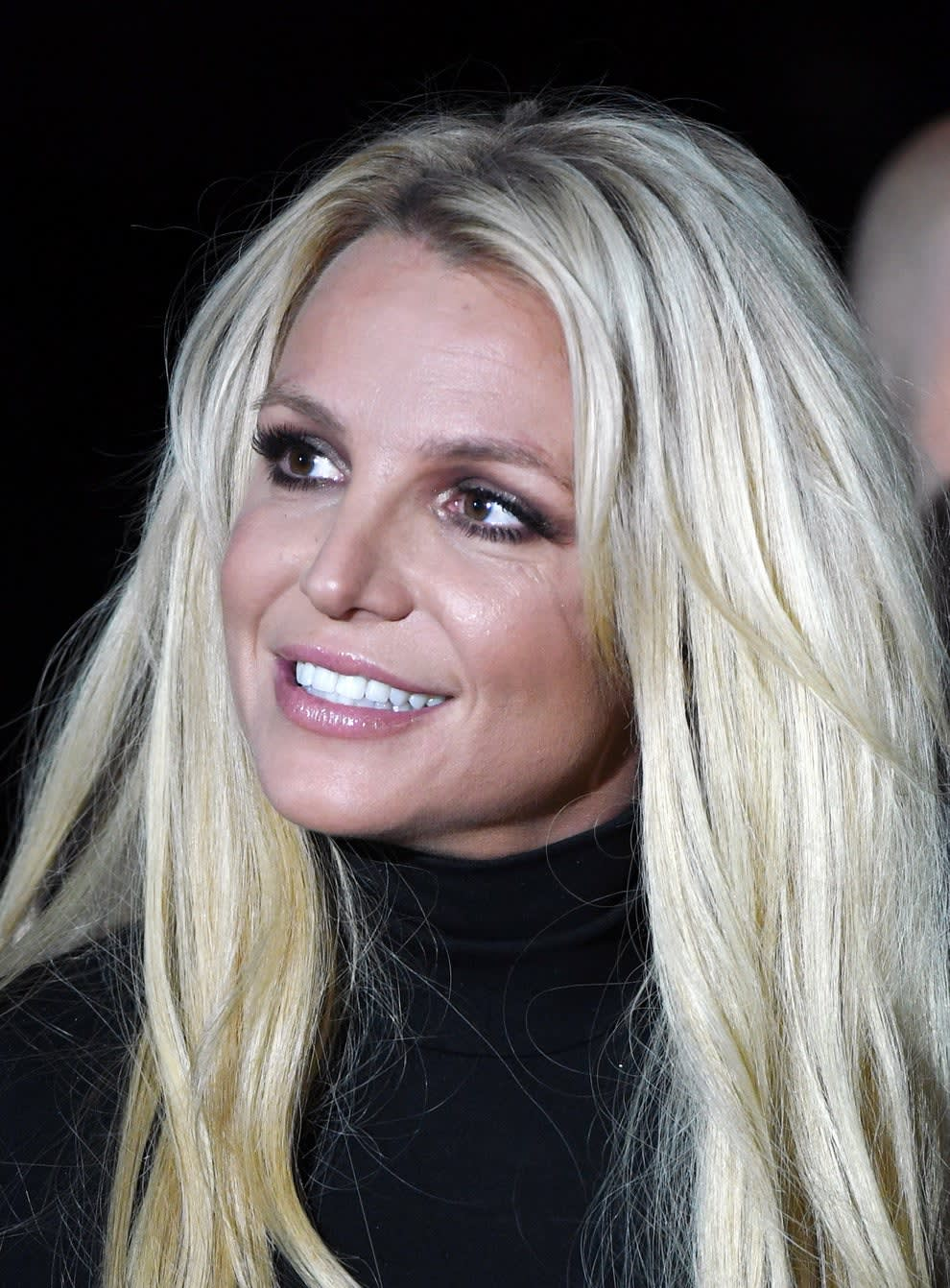 Spears at a press conference for her Las Vegas residency in 2019