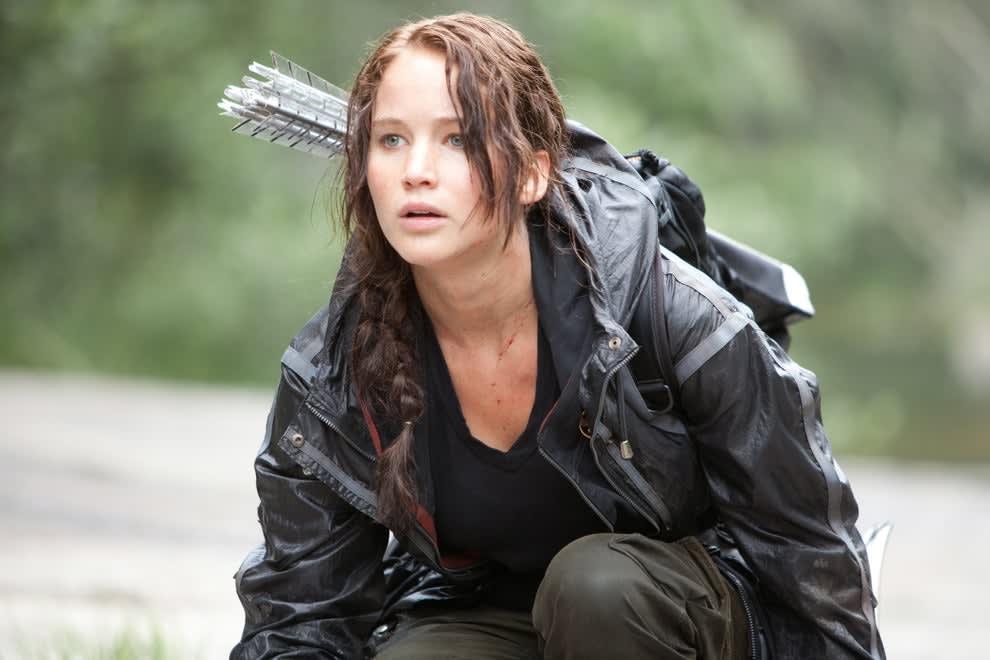 """Jennifer Lawrence in the """"Hunger Games"""""""