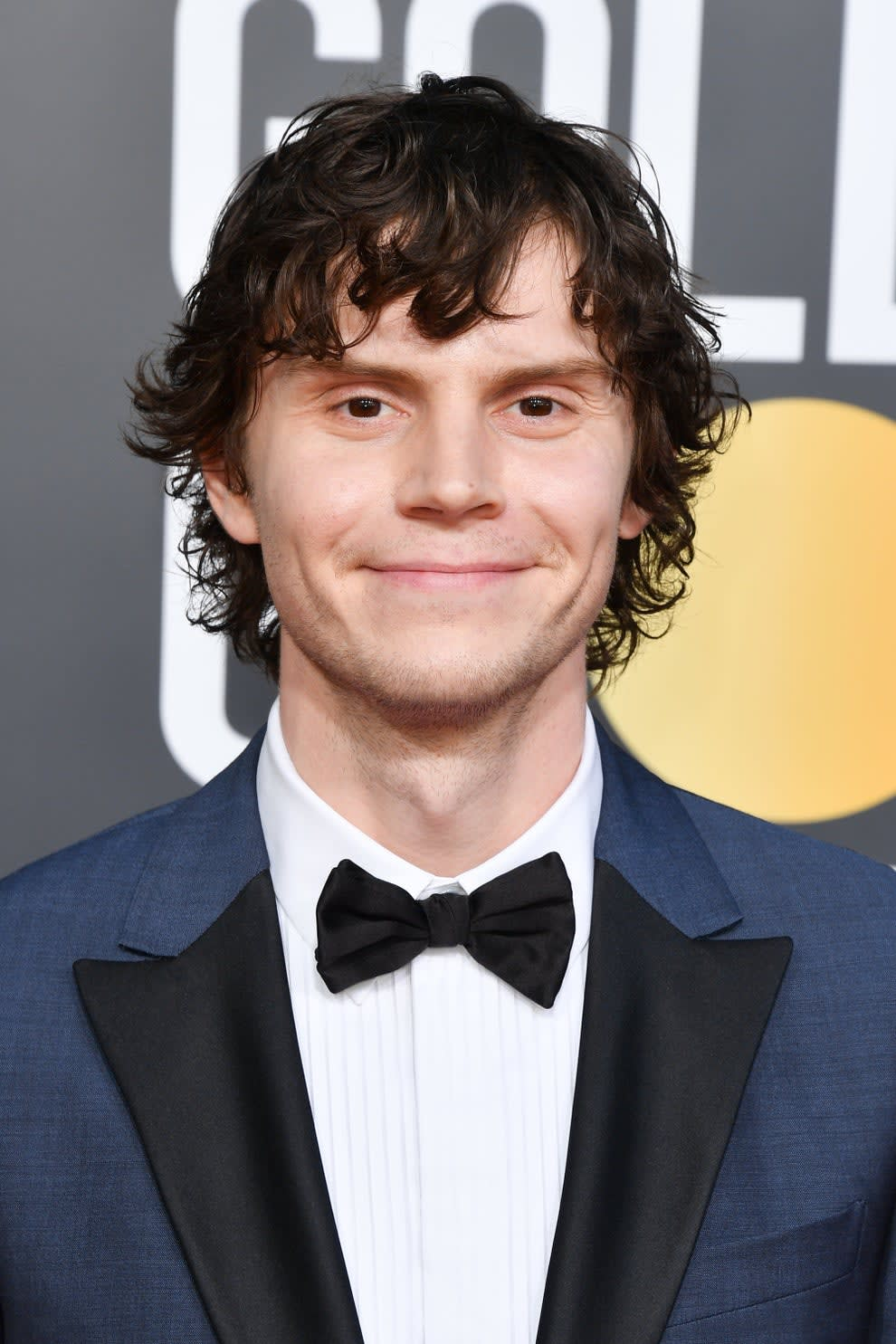 Evan Peters at the Golden Globes