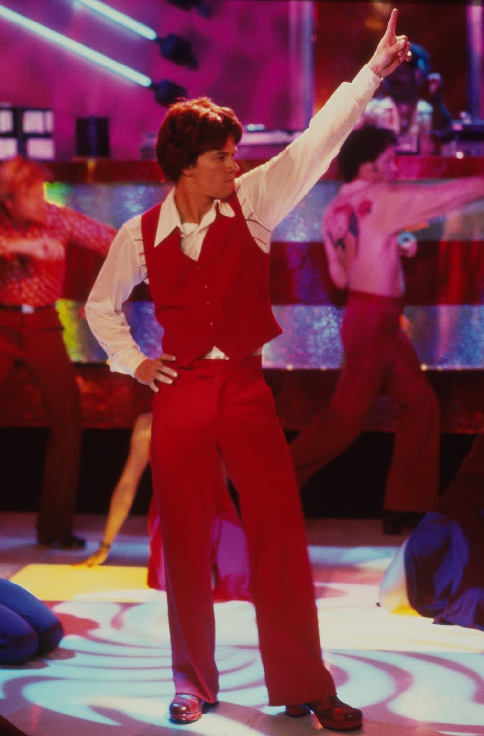 """Mark Wahlberg at the disco in """"Boogie Nights"""""""