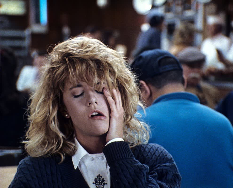 """Sally faking an orgasm in """"When Harry Met Sally"""""""