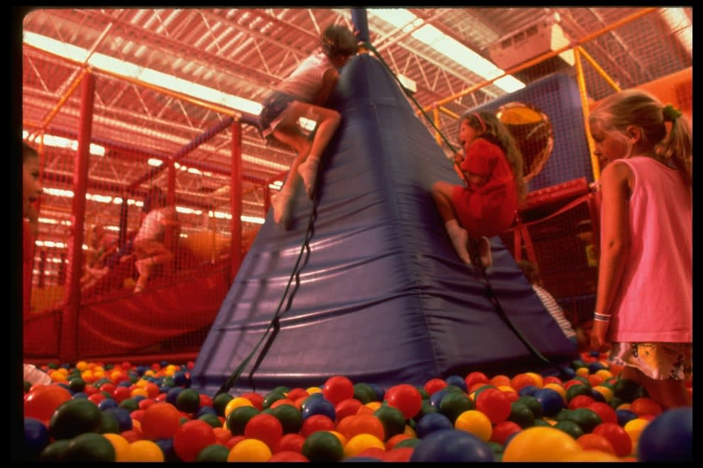 Kids in the ball pit at Discovery Zone