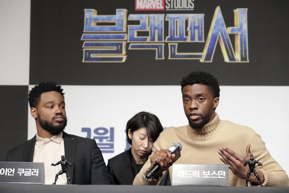 """Coogler e Boseman no painel de """"Pantera Negra"""""""
