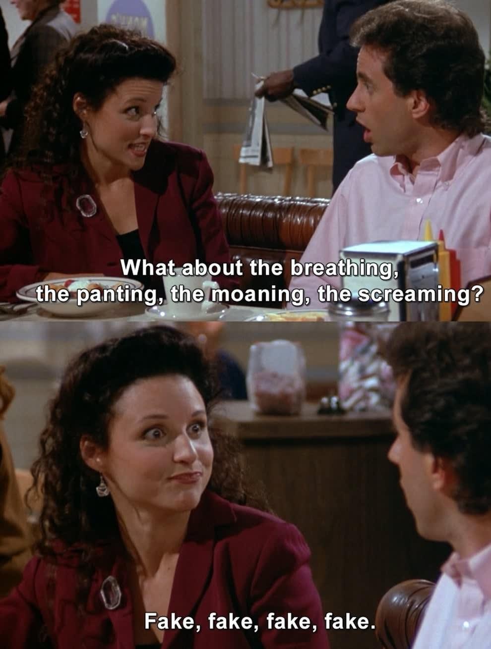"""Jerry e Elaine em """"Seinfeld"""""""