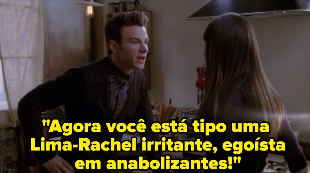Kurt yells at Rachel because she's been treating him badly.