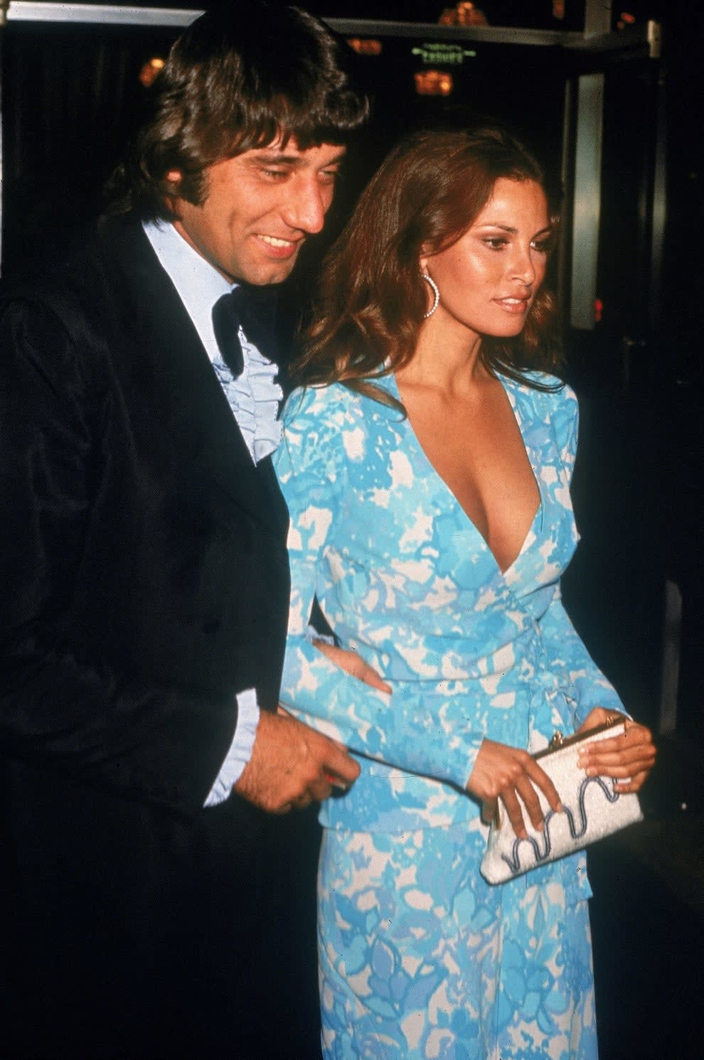 Welch and Namath at the Academy Awards in 1972