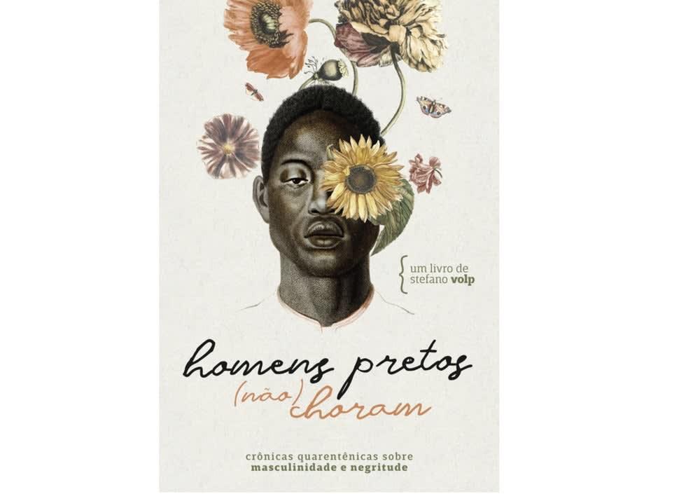 """capa do livro """"Homens Pretos (não) Choram"""" de Stefano Volp"""