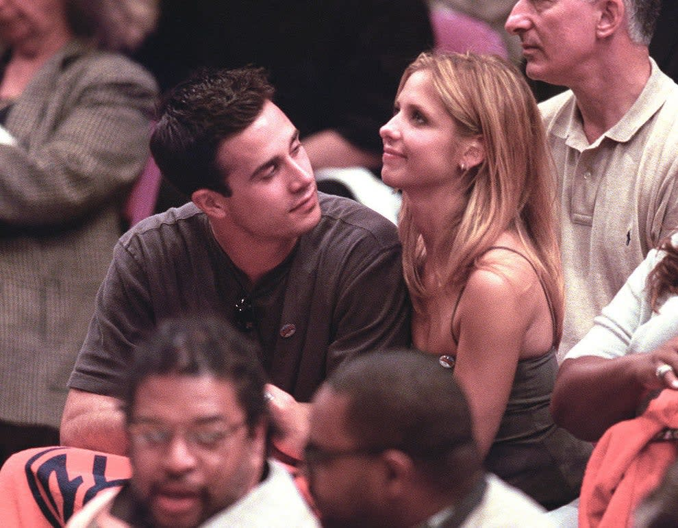 with SMG at a bball game