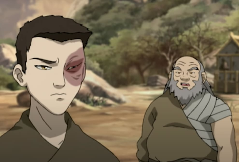 Uncle Iroh and Zuko training together