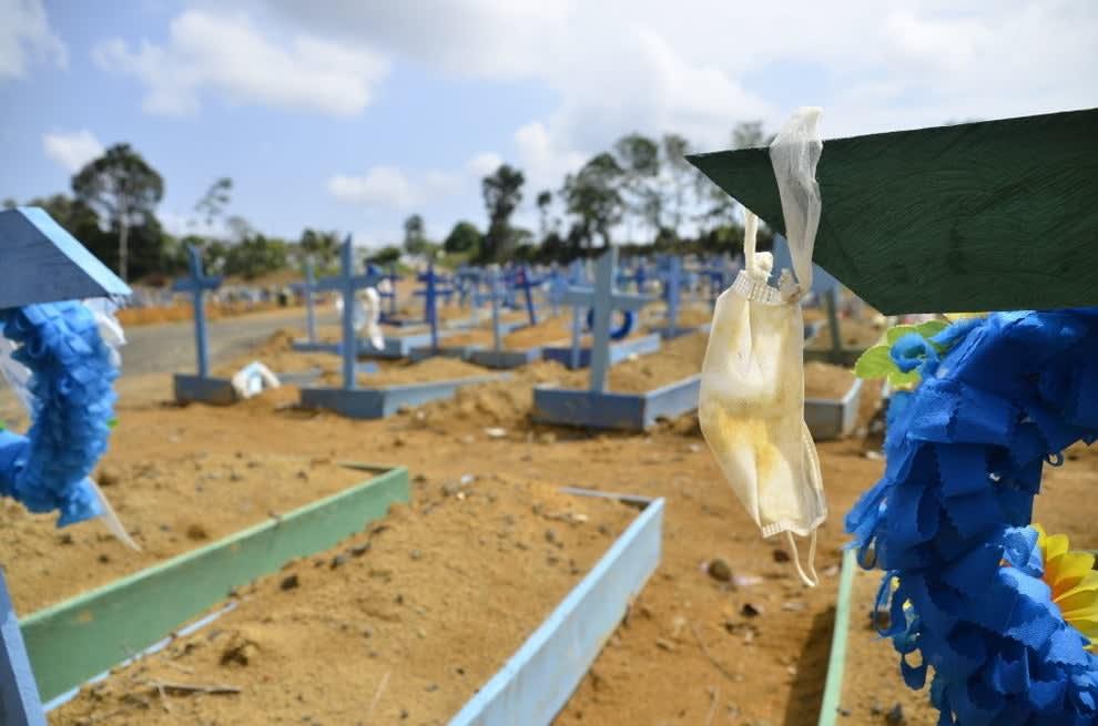 Foto do Cemitério Nossa Senhora Aparecida, em Manaus.