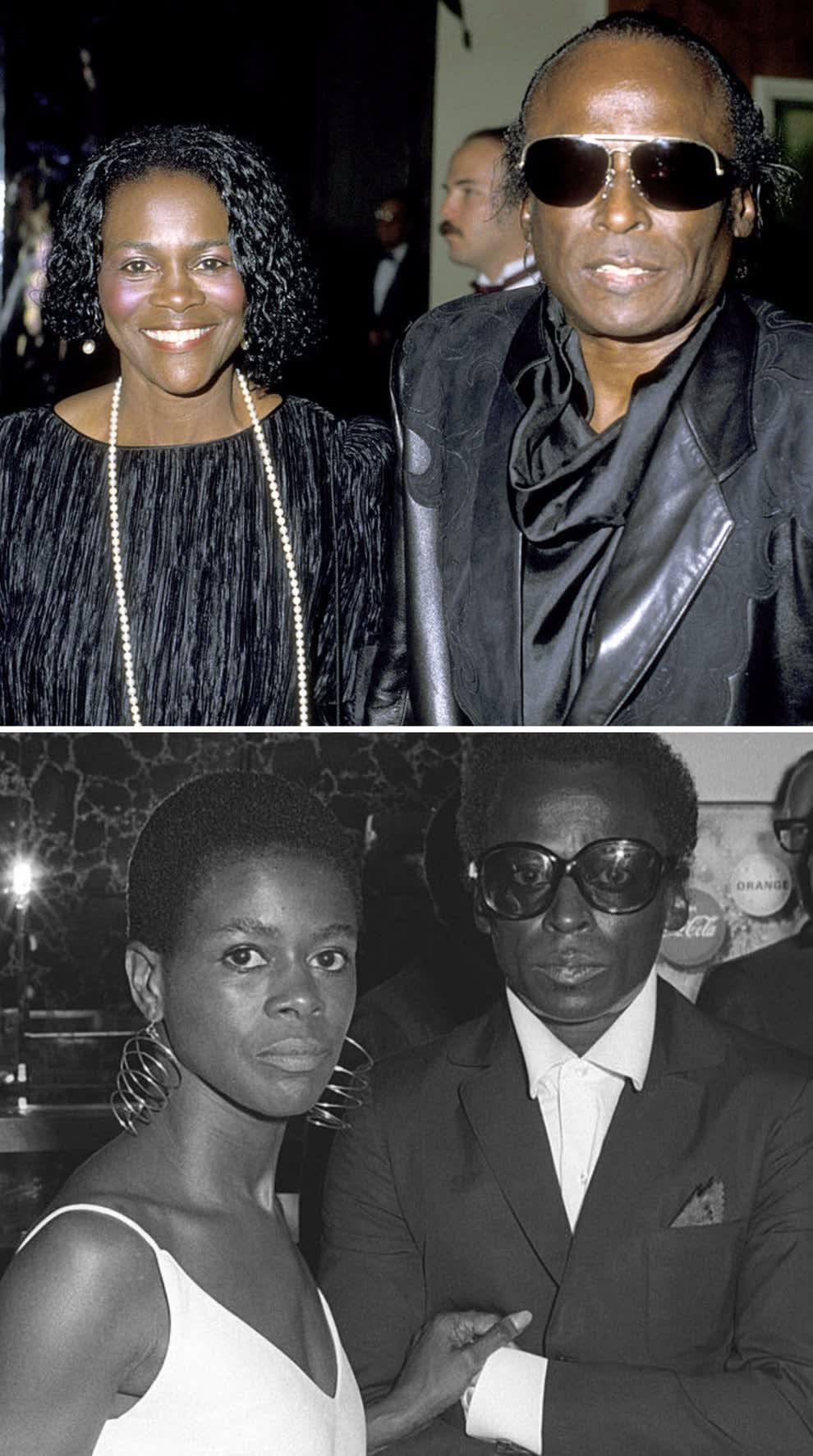 """Tyson and Davis at an event together in 1984; Tyson and Davis at the premiere of """"The Heart Is a Lonely Hunter"""" in 1968"""