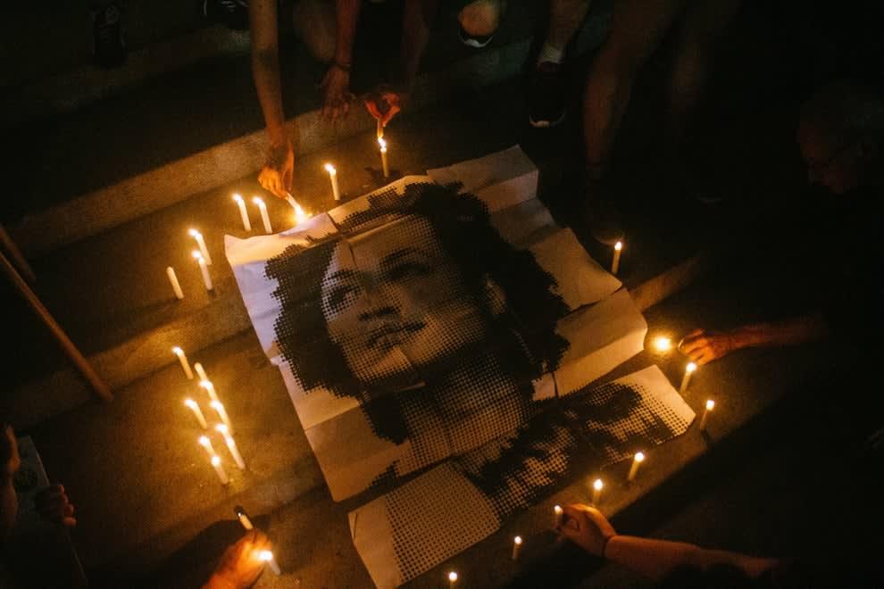 Manifestação pela morte de Marielle Franco