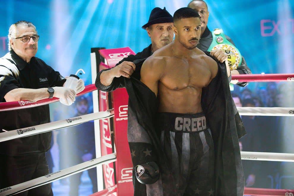 """Michael em uma cena do filme """"Creed: Nascido para Lutar""""."""