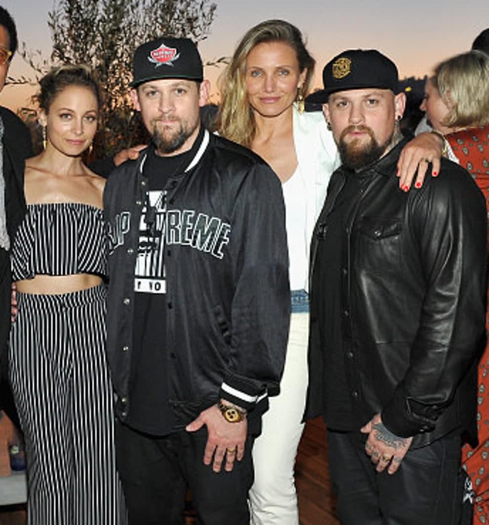 Nicole, Joel, Cameron, and Benji stand together