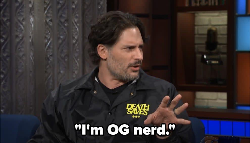 """Joe dizendo """"Eu sou um nerd autêntico."""""""