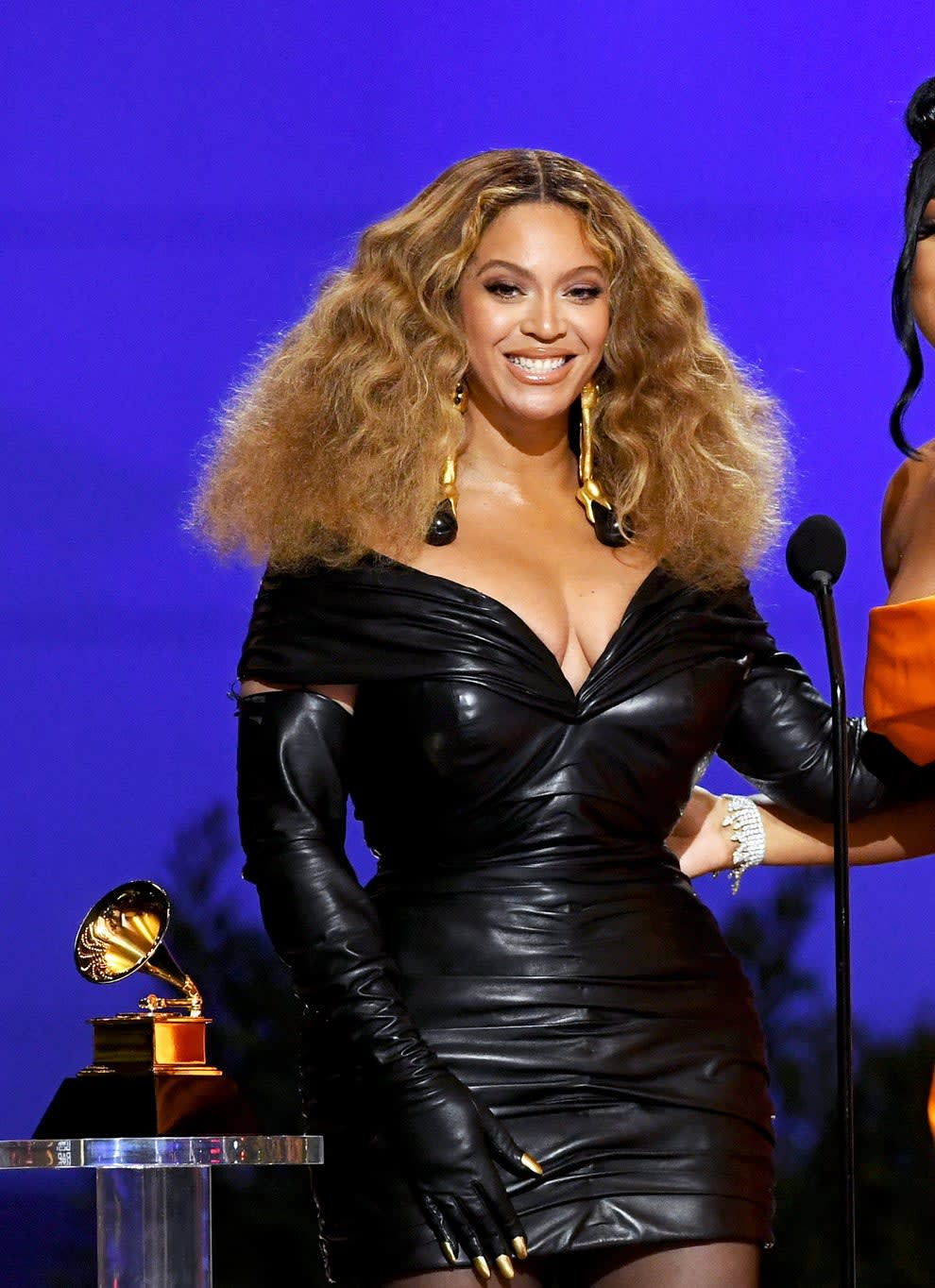 Beyoncé at the Grammy Awards in 2021