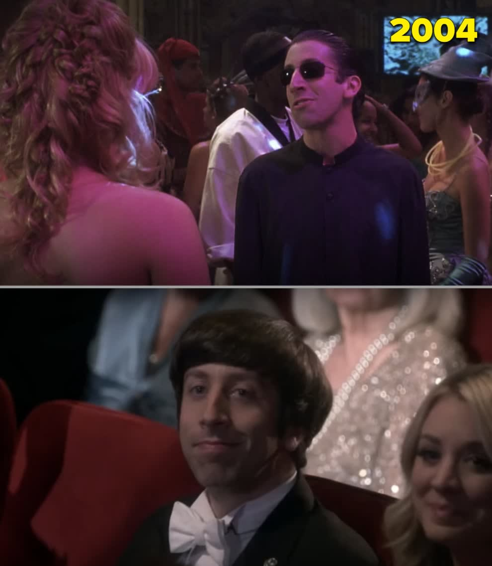 """Simon na festa de halloween em """"A Nova Cinderela"""" e no final de """"The Big Bang Theory"""""""