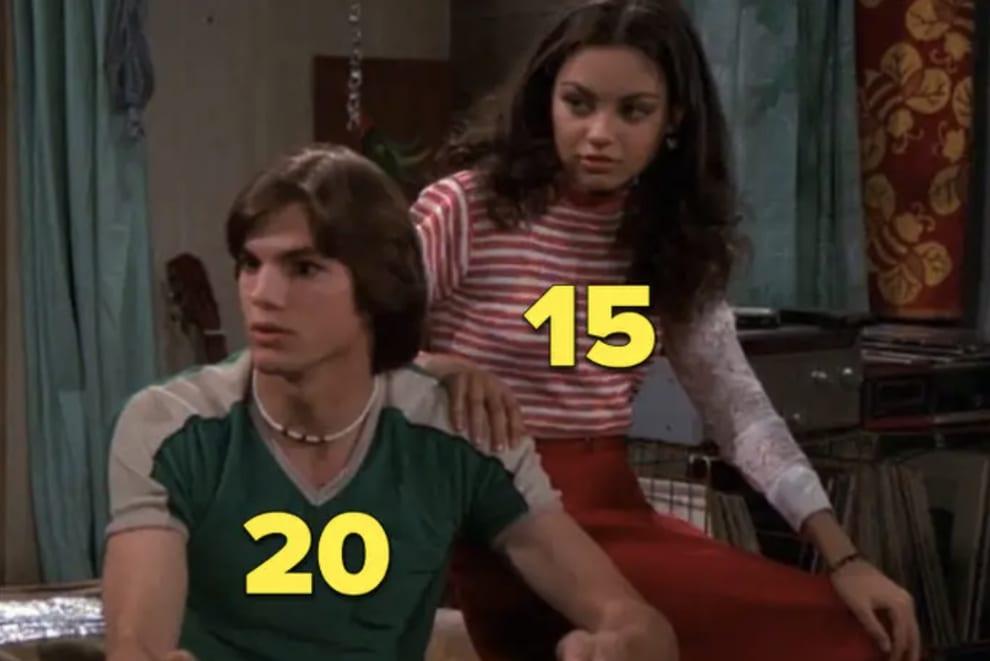 """Mila Kunis e Ashton Kutcher em """"That '70s Show"""""""