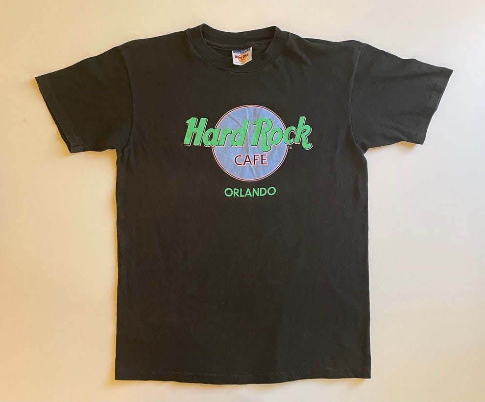 Camiseta preta do Hard Rock Cafe Orlando