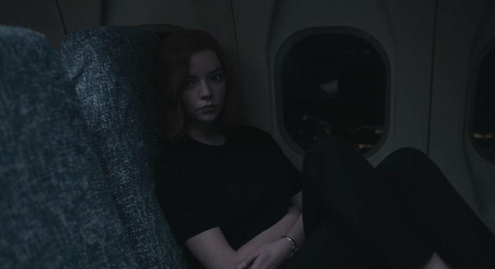 Beth acordada em um vôo