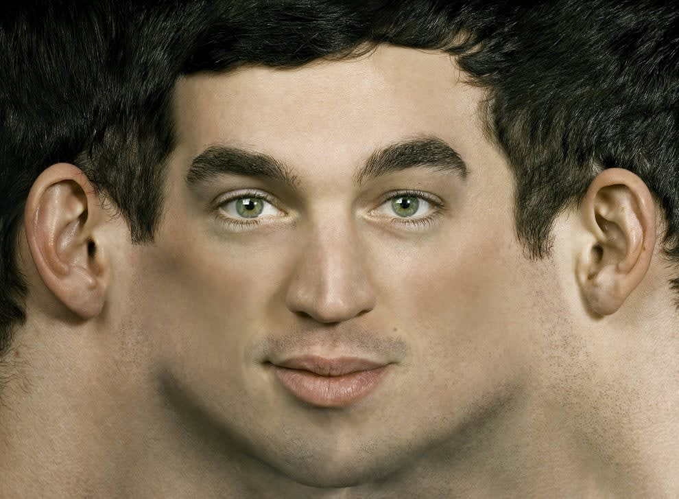 two male faces morphing into one