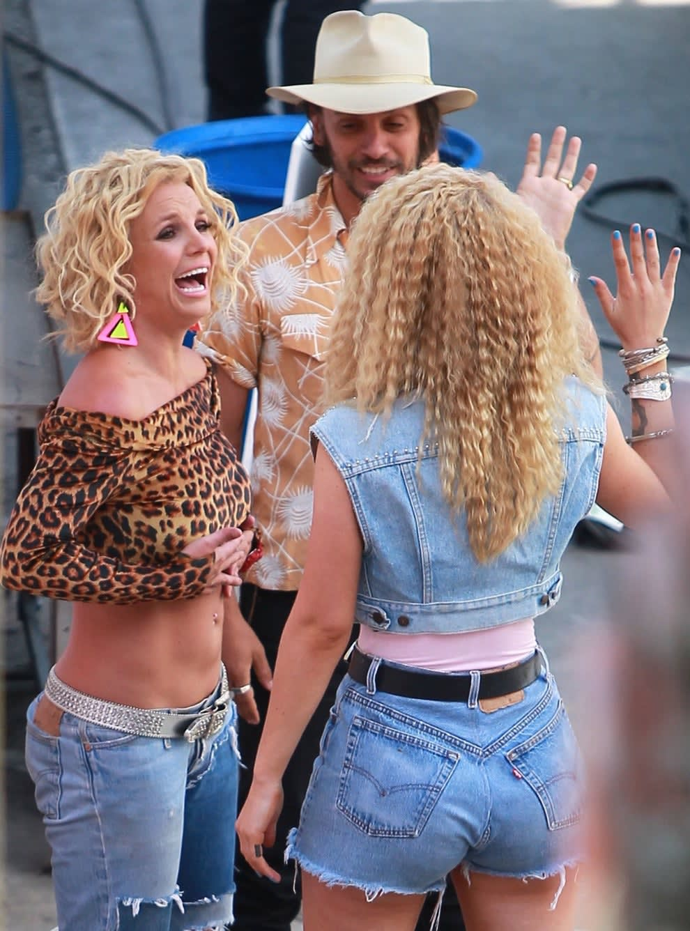 Britney and Iggy on set for their music video