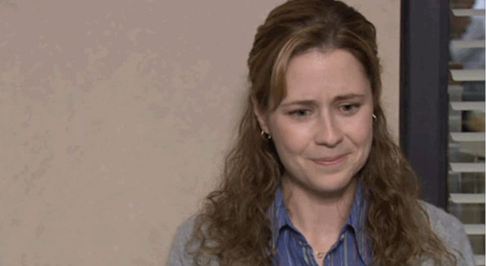 Pam Beesly chorando