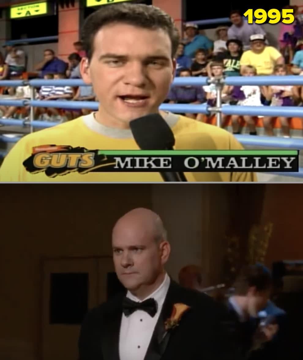 """Mike apresentando """"Nickelodeon Guts"""" nos anos 90 e interpretando o pai de Kurt em """"Glee"""""""
