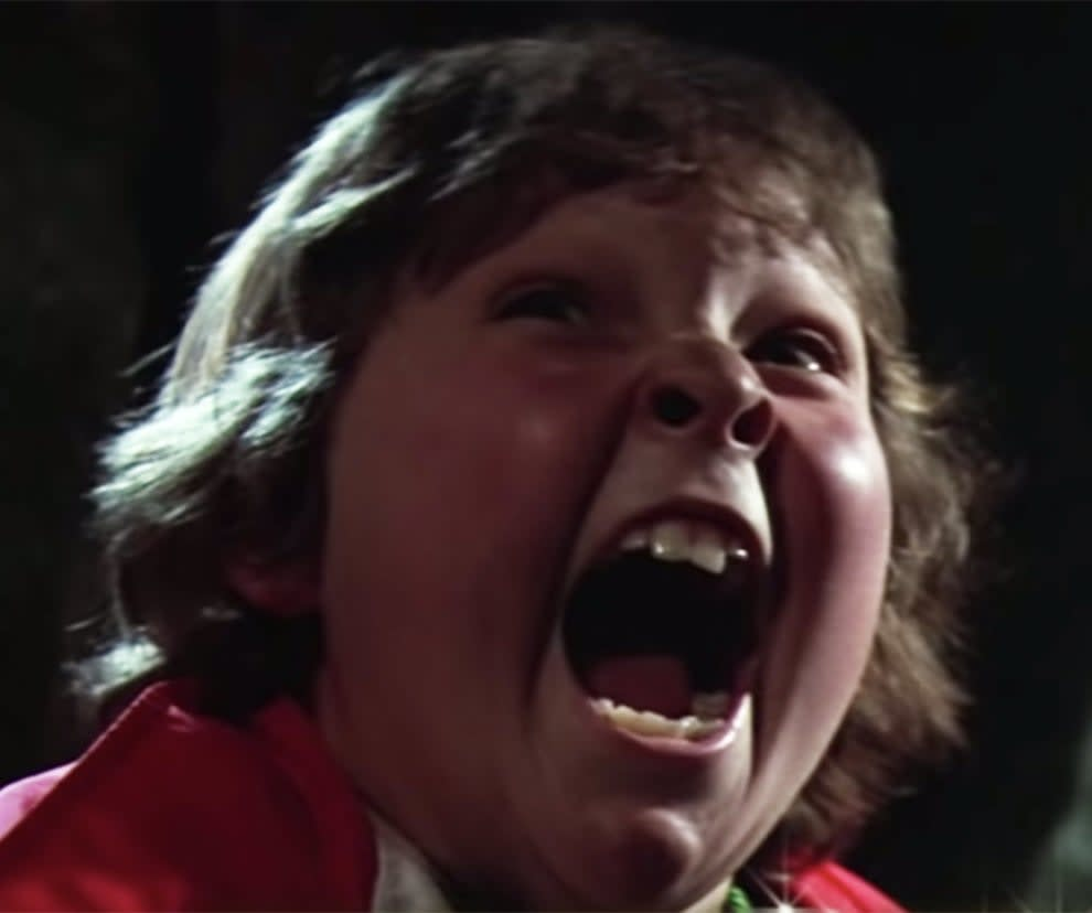 Chunk was known for being clumsy