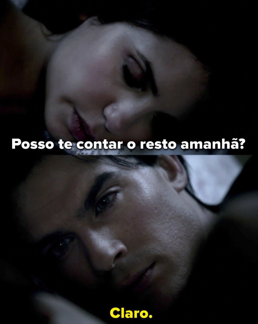 Elena pergunta à Damon se ela pode contar o resto no dia seguinte e Damon diz que sim.
