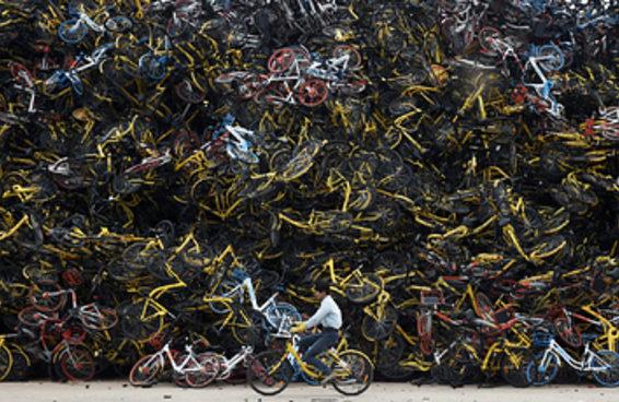 Não é só no Brasil que as bikes compartilhadas estão sendo depenadas