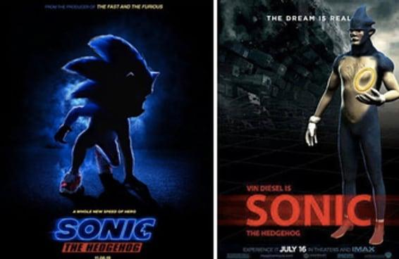 Corre que o gamer tá puto com o visual do Sonic no pôster do filme