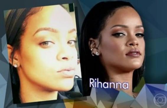 """Mandaram uma foto da Rihanna sem maquiagem para um quadro do """"Altas Horas"""""""