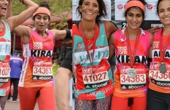 Mulher corre maratona sem absorvente em protesto contra a vergonha de menstruar