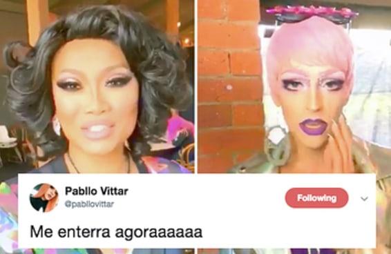 """Drags do """"RuPaul's Drag Race"""" dublaram Pabllo Vittar e os fãs brasileiros tão no chão"""