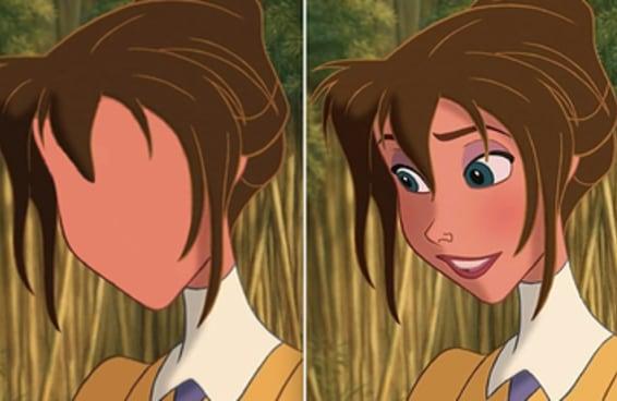 Removi os rostos destes personagens Disney e vou ficar impressionado se você identificar pelo menos 4 deles